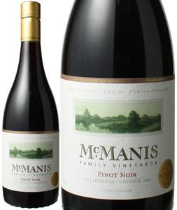 マックマニス ピノ・ノワール 2017 赤  Mcmanis Family Pinot Noir  スピード出荷