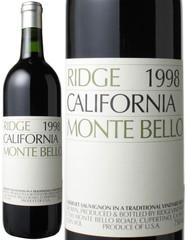 リッジ・ヴィンヤーズ モンテ・ベッロ 1998 赤  Ridge Monte Bello 1998   スピード出荷