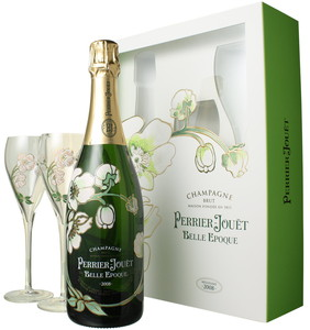 ペリエ・ジュエ ベル・エポック グラス付きセット 2008 白  Perrier Jouet Belle Epoque  スピード出荷
