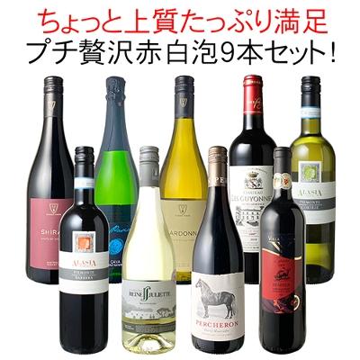 ワインセット プチ贅沢 全部入り 9本 赤ワイン 白ワイン スパークリング 飲み比べ パーティ【沖縄・離島は別料金加算】