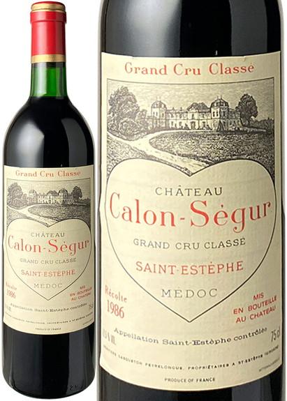 シャトー・カロン・セギュール 1986 赤  Chateau Calon Segur  スピード出荷