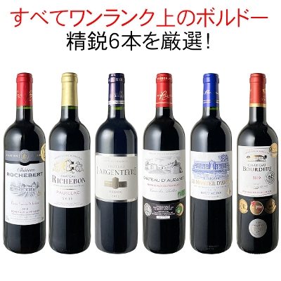 ワインセット 厳選 ボルドー ワイン 6本 セット 当たり年 オー・メドック ワンランク上 家飲み 御祝 誕生日 ハロウィン ギフト パーティー