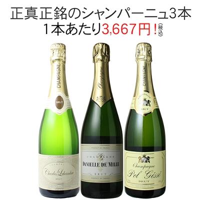 ワインセット シャンパン 3本 セット シャンパン製法 瓶内二次発酵 家飲み 御祝 誕生日 ハロウィン ギフト プレゼント パーティー