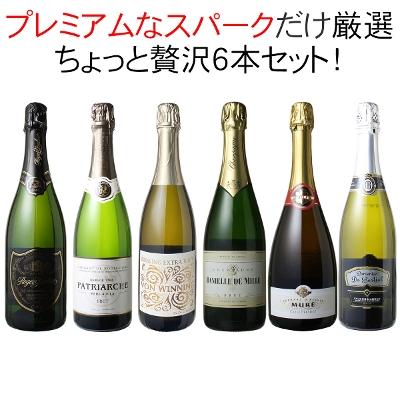 ワインセット プレミアム スパークリング ワイン 6本 セット シャンパン入 瓶内二次発酵 パーティー 家飲み ちょっと贅沢