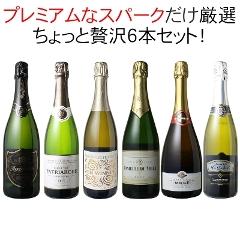 【送料無料】ワインセット プレミアム スパークリング ワイン 6本 セット シャンパン入 瓶内二次発酵 ちょっと贅沢 第22弾