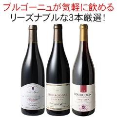 【送料無料】ワインセット ブルゴーニュ 3本 セット 赤ワイン ピノ・ノワール お気軽ブルゴーニュ 第34弾