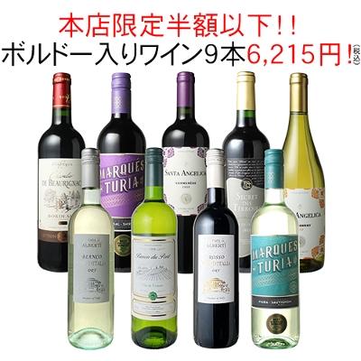 ワインセット 家飲み ワイン 9本 セット ボルドー入 赤ワイン 白ワイン デイリーワイン 飲み比べ パーティー おうちで満喫 ハロウィン