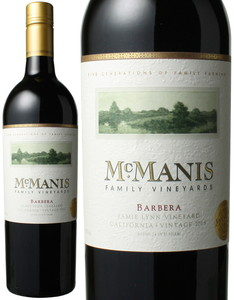 マックマニス バルベーラ 2015 マックマニス・ファミリーヴィンヤード 赤  Mcmanis Family Barbera  スピード出荷