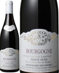 ブルゴーニュ ピノ・ノワール 2017 モンジャール・ミュニュレ 赤 Bourgogne Pinot Noir / Mongeard Mugneret   スピード出荷