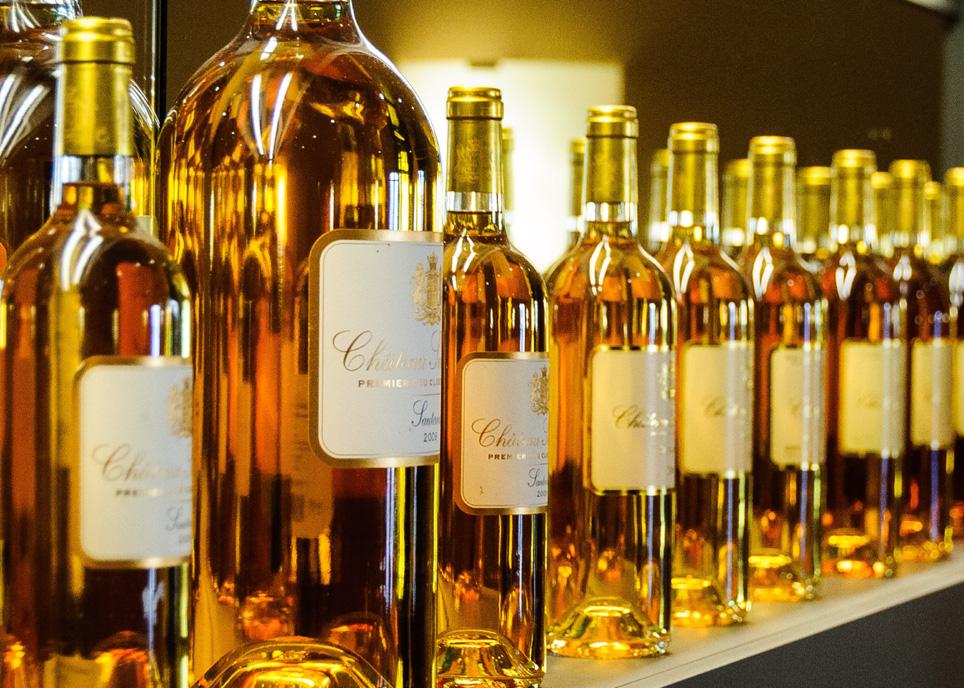 貴腐ワインが並ぶ画像