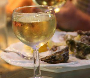 貴腐ワインと牡蠣
